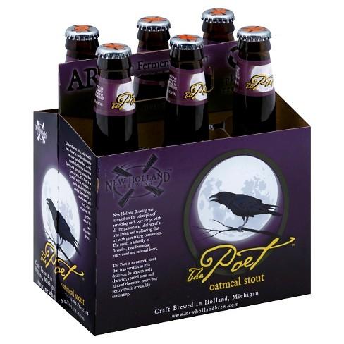 New Holland The Poet Oatmeal Stout Beer - 6pk/12 fl oz Bottles - image 1 of 1