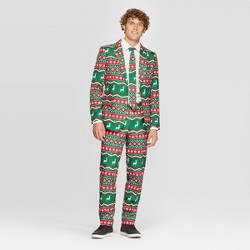 Suitmeister Men's Nordic Holiday Suit - Green