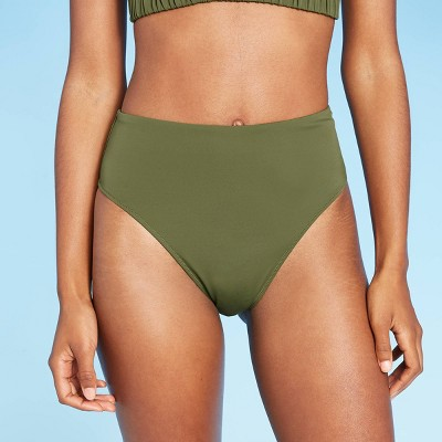 Women's High Leg High Waist Extra Cheeky Bikini Bottom - Shade & Shore™