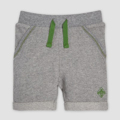 Burt's Bees Baby® Baby Boys' Loose Pique Rolled Cuff Shorts - Heather Gray 0-3M