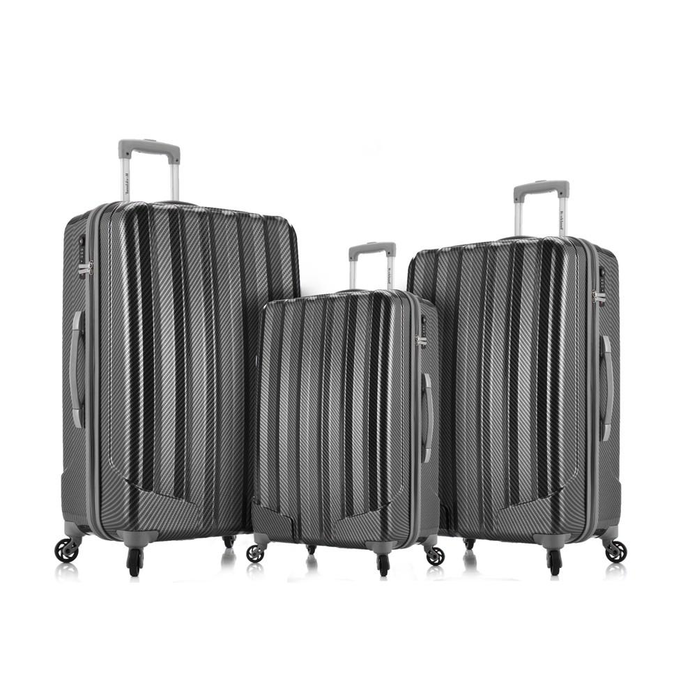 Rockland Barcelona 3pc Hardside Luggage Set - Black