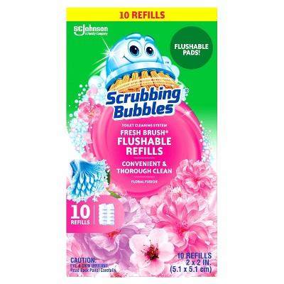 Scrubbing Bubbles Freshbrush Flushable Refill Floral Fusion