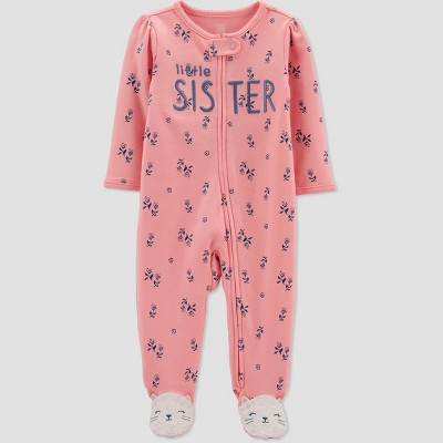 Baby Girls' Little Sister Sleep N' Play - Just One You® made by carter's Pink Newborn