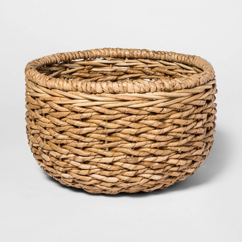 151.3oz Chunky Seagrass Woven Serving Bowl Beige - Threshold™ - image 1 of 1
