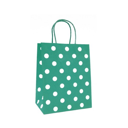 Polkadots Cub Gift Bag Green - Spritz™ - image 1 of 1
