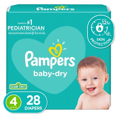 Pampers Baby Dry Diapers - Size 4 - 28ct