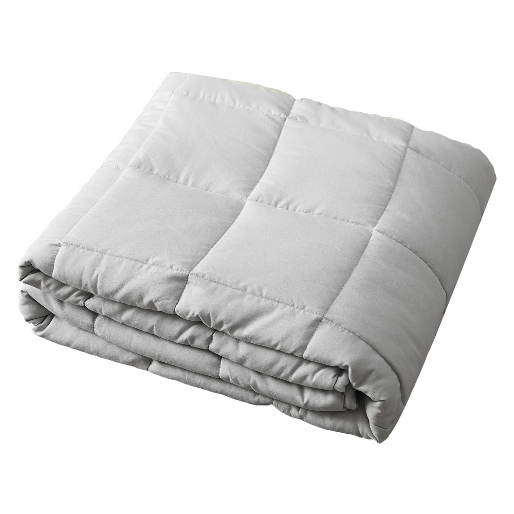 "Image of ""48"""" x 72"""" 15lbs Microfiber Weighted Blanket Gray - Pur Serenity"""