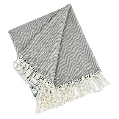 Gray Herringbone Throw (50 X60 )