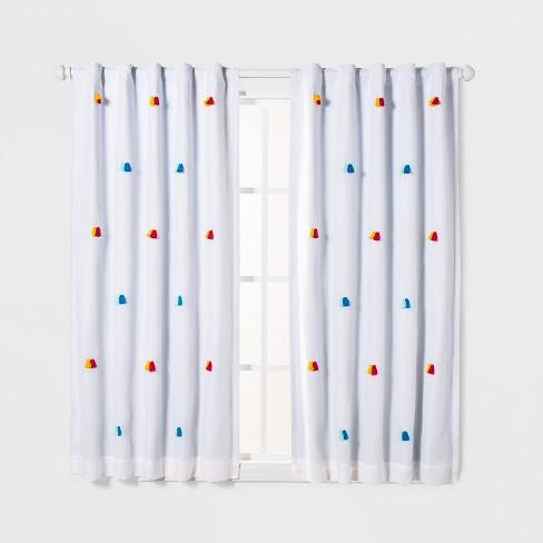 Tassel Applique Blackout Window Curtain Panel - Pillowfort™ - image 1 of 3