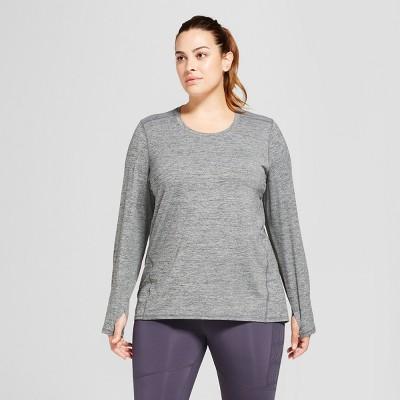 4b999597b9a46 Women s Plus-Size Long Sleeve Tech T-Shirt - C9 Champion®   Target