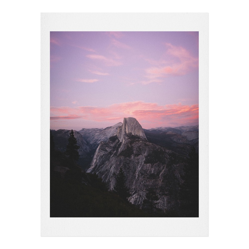 "Image of ""16"""" x 20"""" Garrett Lockh Sunset Dome Wall Art Print Pink - society6"""