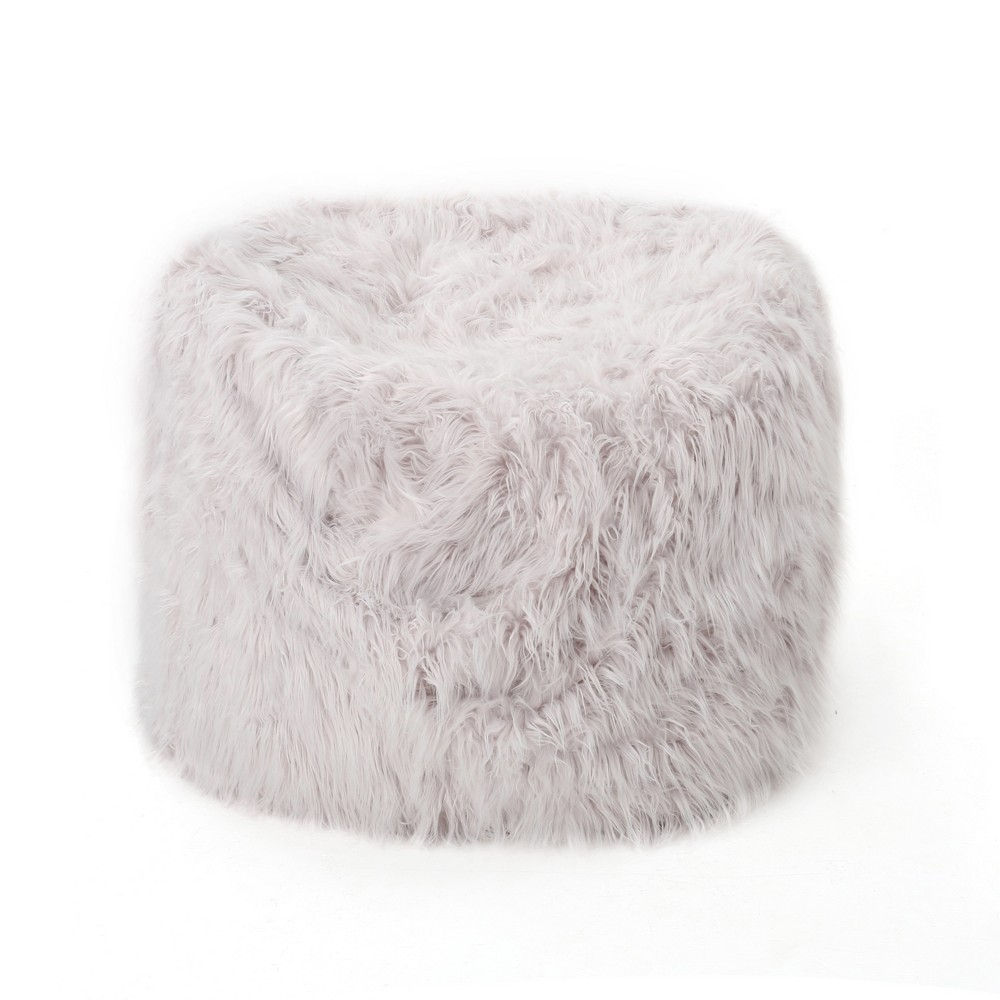 Lachlan Furry Bean Bag - Lavender (Purple) - Christopher Knight Home