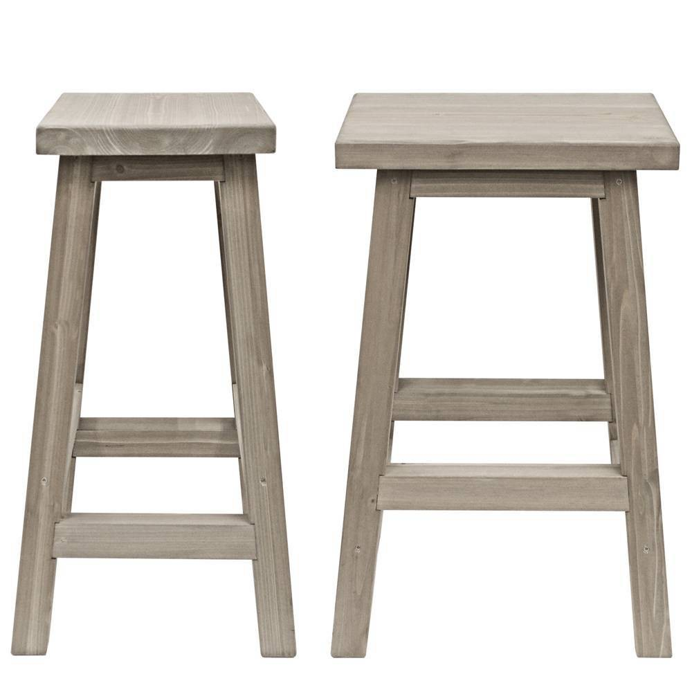 Image of Madison 2pk Outdoor Barstools - Gray - Yardistry