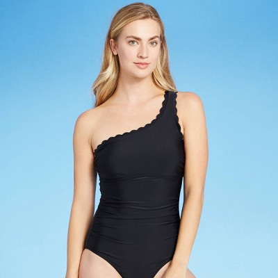 Women's Scallop One Shoulder Classic Coverage One Piece Swimsuit - Kona Sol™