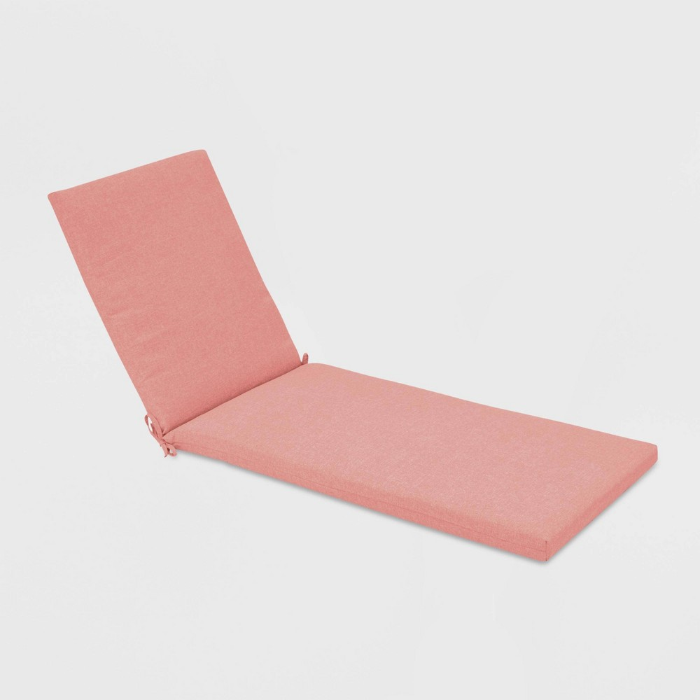Outdoor Chaise Cushion Coral (Pink) - Threshold