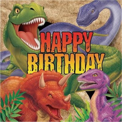48ct Dinosaur Print Birthday Napkins