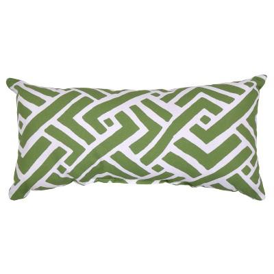 Outdoor Throw Pillow Lumbar - Global Weave Green - Threshold™