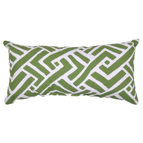 Outdoor Throw Pillow Lumbar - Global Weave Green - Threshold™ - image 1 of 1