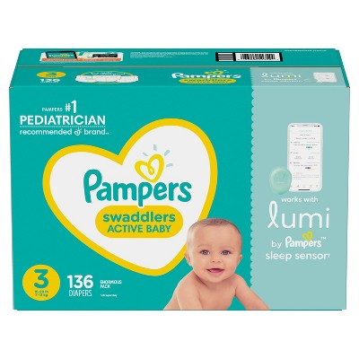 Lumi by Pampers Diapers Enormous Pack - Size 3 - 136ct