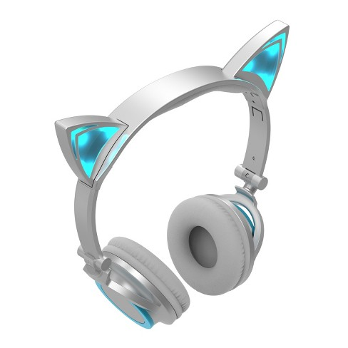 Sharper Image Led Cat Ear Headphones Blue Sbt662bl Target