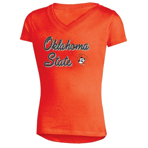 Oklahoma State Cowboys Girls' Short Sleeve Bright Lights V-Neck T-Shirt - image 1 of 1