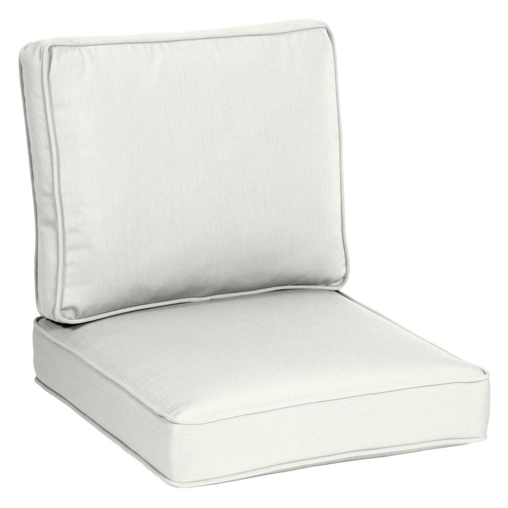 2pc 26 34 X 24 34 Plush Deep Seat Cushion Set Cloud White Arden Selections