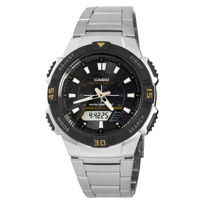 Casio Men's Slim Solar Watch - Silver (AQS800WD-1EV)
