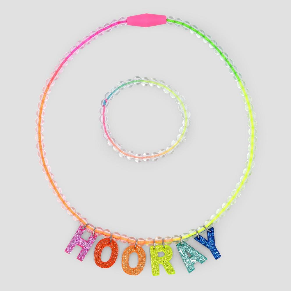 Toddler Girls' Birthday Necklace - Cat & Jack Pink
