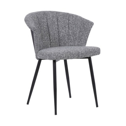 Orchid Contemporary Dining Chair Black Gray Armen Living Target