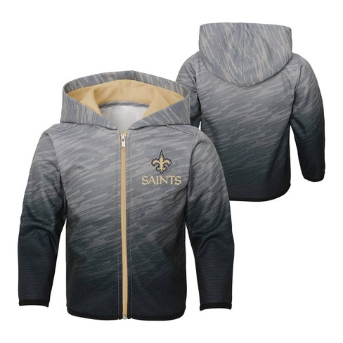 Nfl New Orleans Saints Toddler Boys Sublimated Full Zip Hoodie