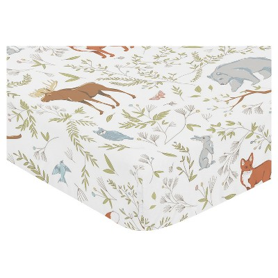 Sweet Jojo Designs Fitted Crib Sheet - Woodland Toile - Animal Print