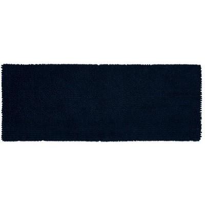 """22""""x60"""" Chunky Chenille Memory Foam Bath Rug Dark Blue - Room Essentials™"""