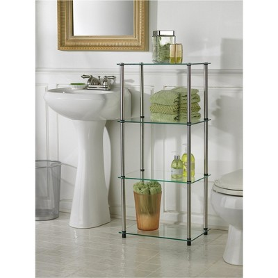 '39'' 4 Tier Glass Tower - Convenience Concepts'