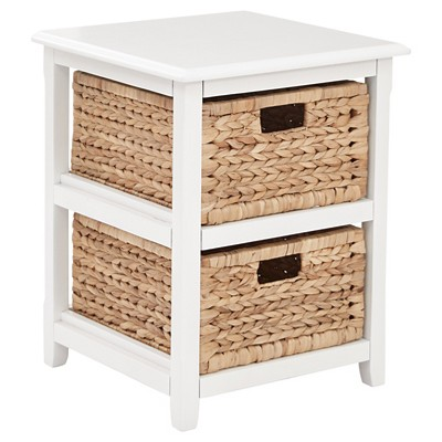 Seabrook Two Storage Unit White - OSP Home Furnishings