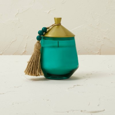 10oz Glass Jar Metal Lid Teal Tropic Oasis Candle - Opalhouse™ designed with Jungalow™