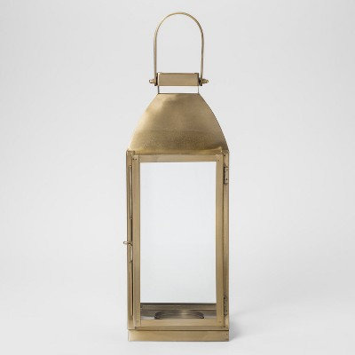 Metal Lantern - Gold - Smith & Hawken™