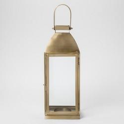Metal Lantern - Gold - Smith & Hawken™