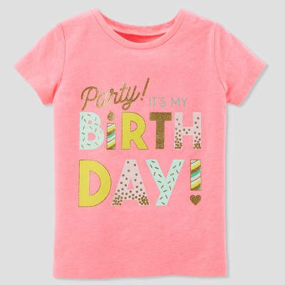Toddler Girls' Birthday Girl Short sleeve T - Shirt - Just One You® made by carter's Rose 2T
