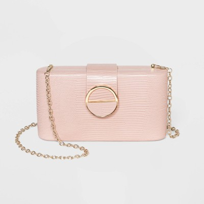 Estee & Lilly Magnetic Closure MIni Clutch - Pink