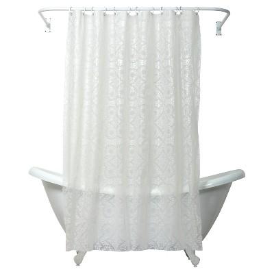 Morocco PEVA Geometric Shower Curtain - India Ink®