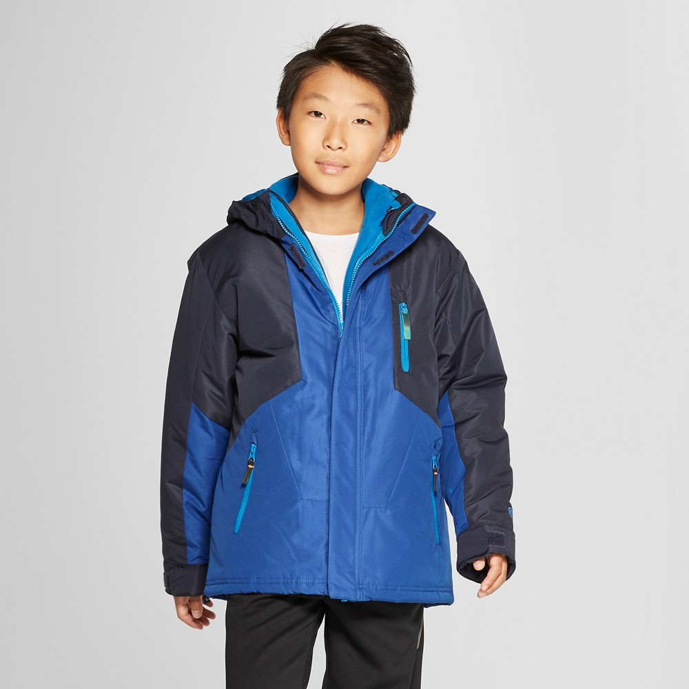 Boys' 3-in-1 Reversible System Jacket - C9 Champion Navy XL, Blue