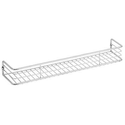 """mDesign Metal Wall Mount Spice Rack, 16"""" - 2 Pack"""