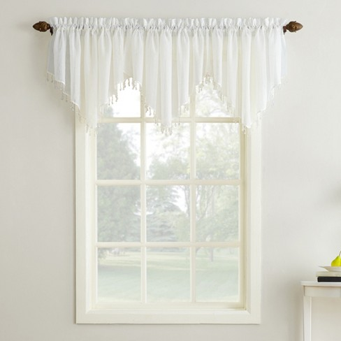 """No. 918 Erica Crushed Sheer Voile Ascot Valance 51""""x24"""" - image 1 of 3"""