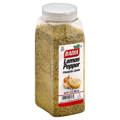 Badia Gluten Free Lemon Pepper Seasoning - 1.5lbs