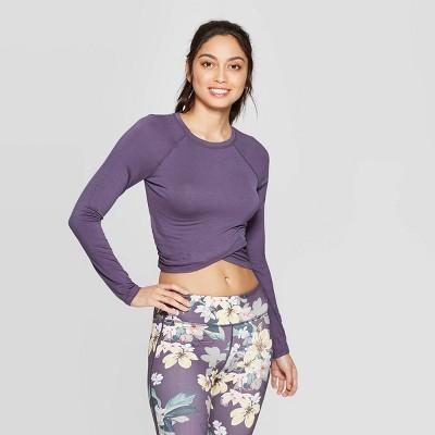 view Women's Twist Back Long Sleeve Sweatshirt - JoyLab on target.com. Opens in a new tab.