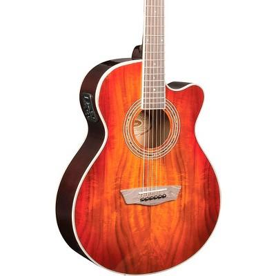 Washburn EA55G-A Festival Acoustic-Electric Guitar Koa Burst