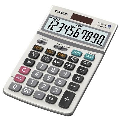 Casio JF100 Professional Desktop Calculator - Silver