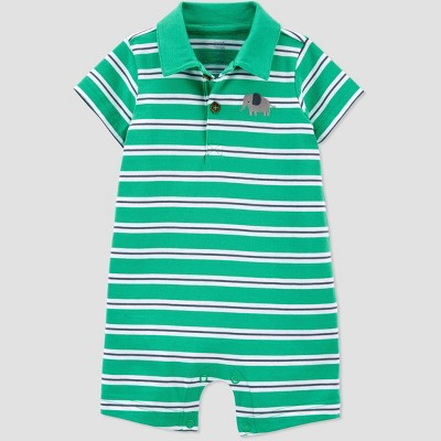 Baby Boys' Elephant Striped Romper - Just One You® made by carter's Green