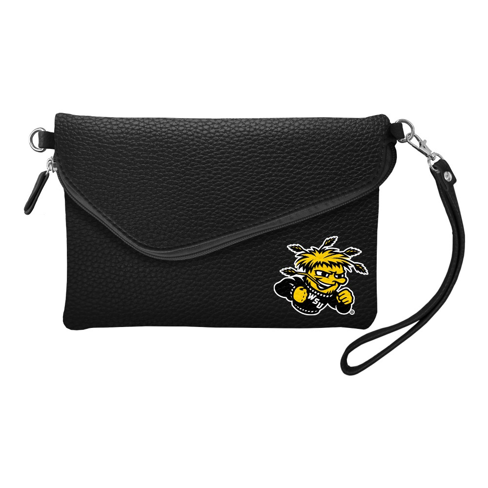 NCAA Wichita State Shockers Little Earth Fold Over Crossbody Pebble, Adult Unisex