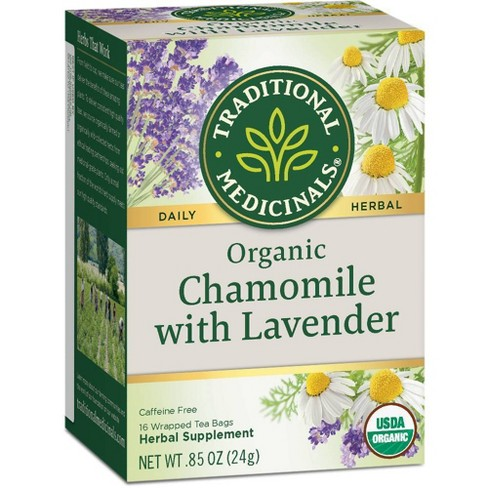Traditional Medicinals Organic Chamomile with Lavender Herbal Tea - 16ct - image 1 of 4